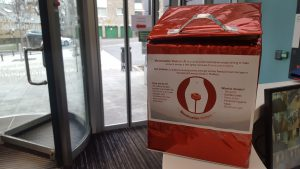 One of our donation boxes