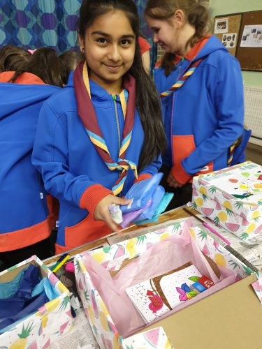 Girlguides packaging Love Shoe Boxes
